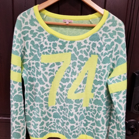 fd8be0542454 Juicy Couture Sweaters | Neon Greenyellow 74 Metallic Large | Poshmark